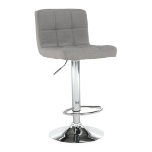 Produkt Barová stolička, sivohnedá taupe látka/chróm, KANDY NEW