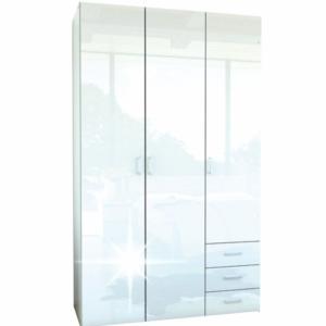 Produkt Skriňa, 3 – dverová, biela extra vysoký lesk HG, GWEN 70427